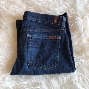 7 For All Mankind Dojo Wide Leg Jeans - Size 29